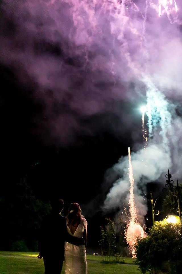 Fuegos artificiales - Chateaux Brindos