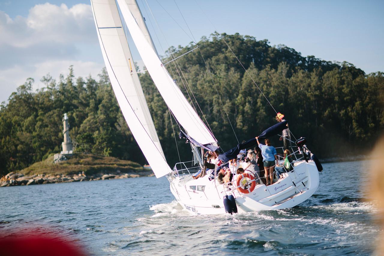 pre boda en el mar - velero - Itziar Ortuondo