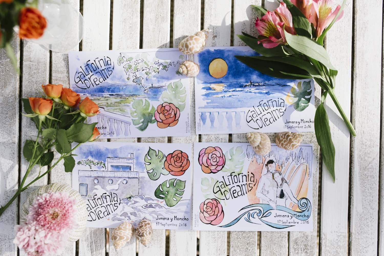 invitación de bodas. Diseño de papelería