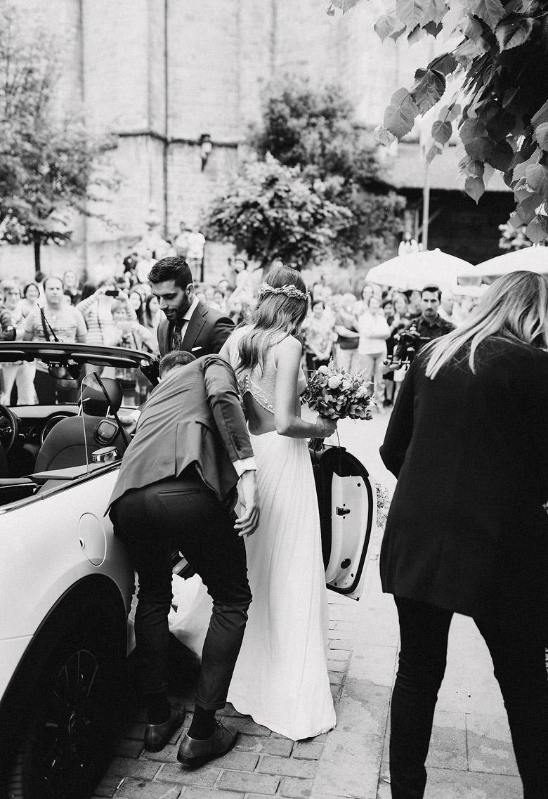Bodas especiales - llegada de la novia
