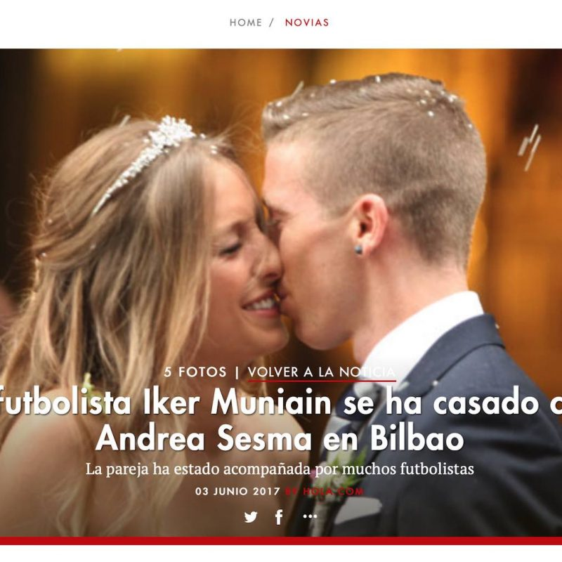 BODA IKER MUNIAIN - ATHETIC CLUB - LA MEJOR WEDDING PLANNER - Itziar Ortuondo